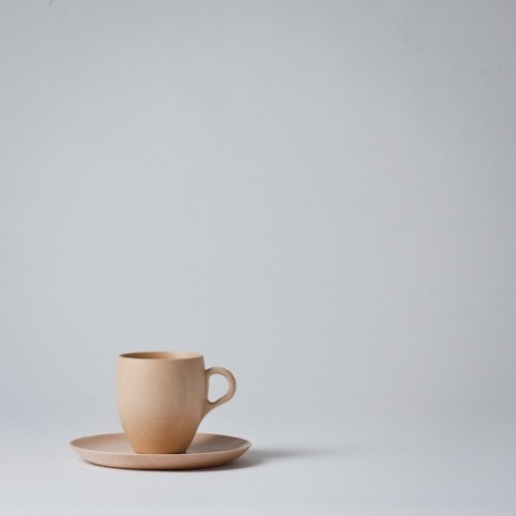 Linden Wood Cup and Saucer