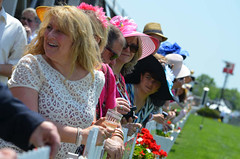 Watching the race at the Preakness States, Black-Eyed Susan Day
