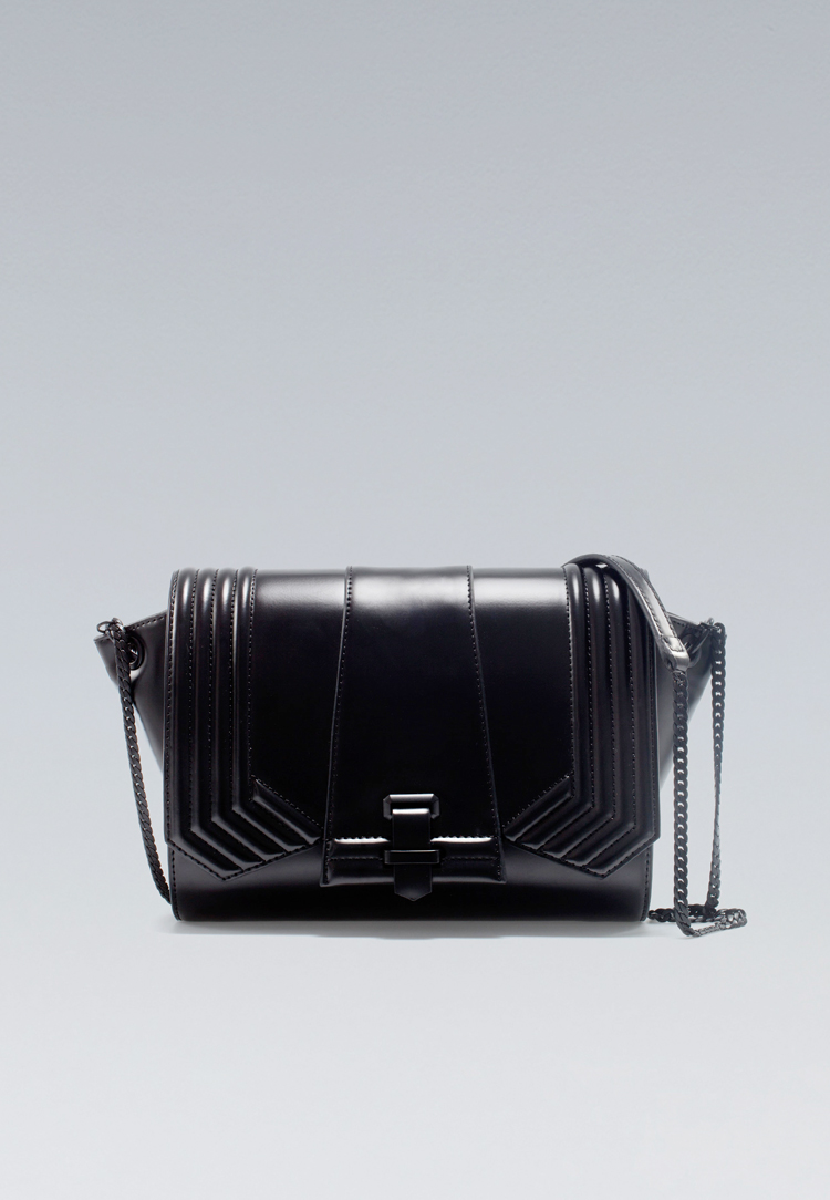 ZARA QUILTED MESSENGER BAG