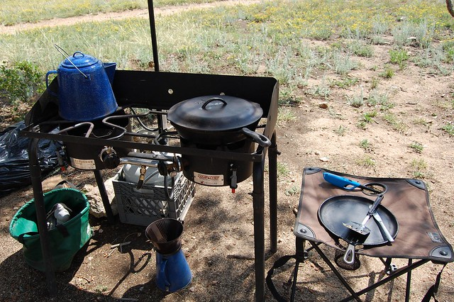 Car camping stove - Camping and Boating, Gross Reservoir, CO