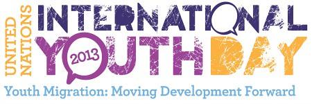 2013聯合國國際青年日主題視覺設計。圖片來源:聯合國國際青年日網站。