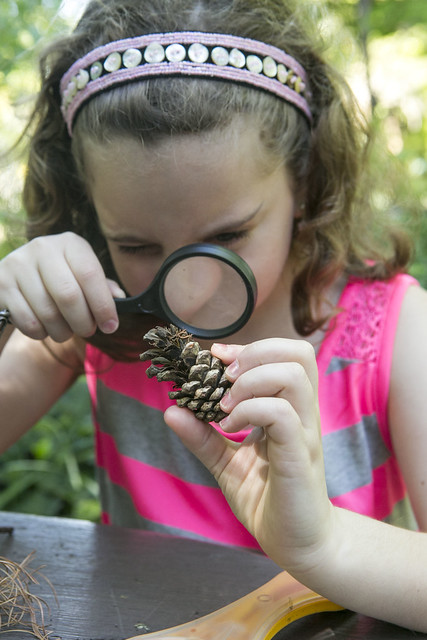 Exhibits in the new Discovery Garden will allow children to use real scientific tools out in nature. Photo by Caroline Voagen Nelson.
