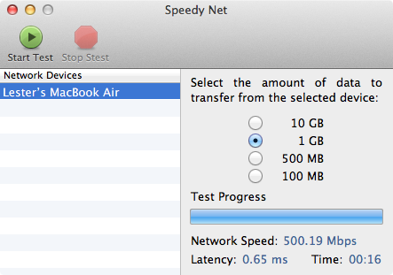 Speedy Net - 1Gbps LAN (iMac) to 1Gbps LAN (MacBook Air)