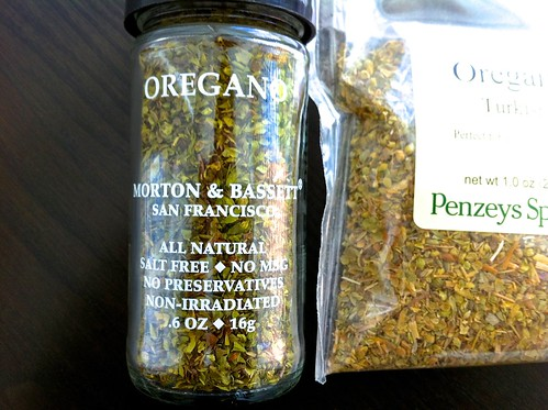 Morton & Bassett and Penzeys Dried Oregano