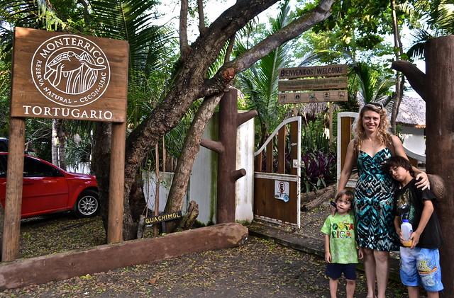 Entrance to CECON hatchery - Monterrico, Guatemala