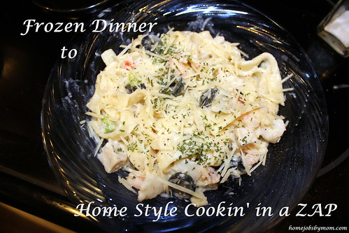 Seafood and Chicken Alfredo with Broccoli and Olives Recipe #MakeItYourMichelinas