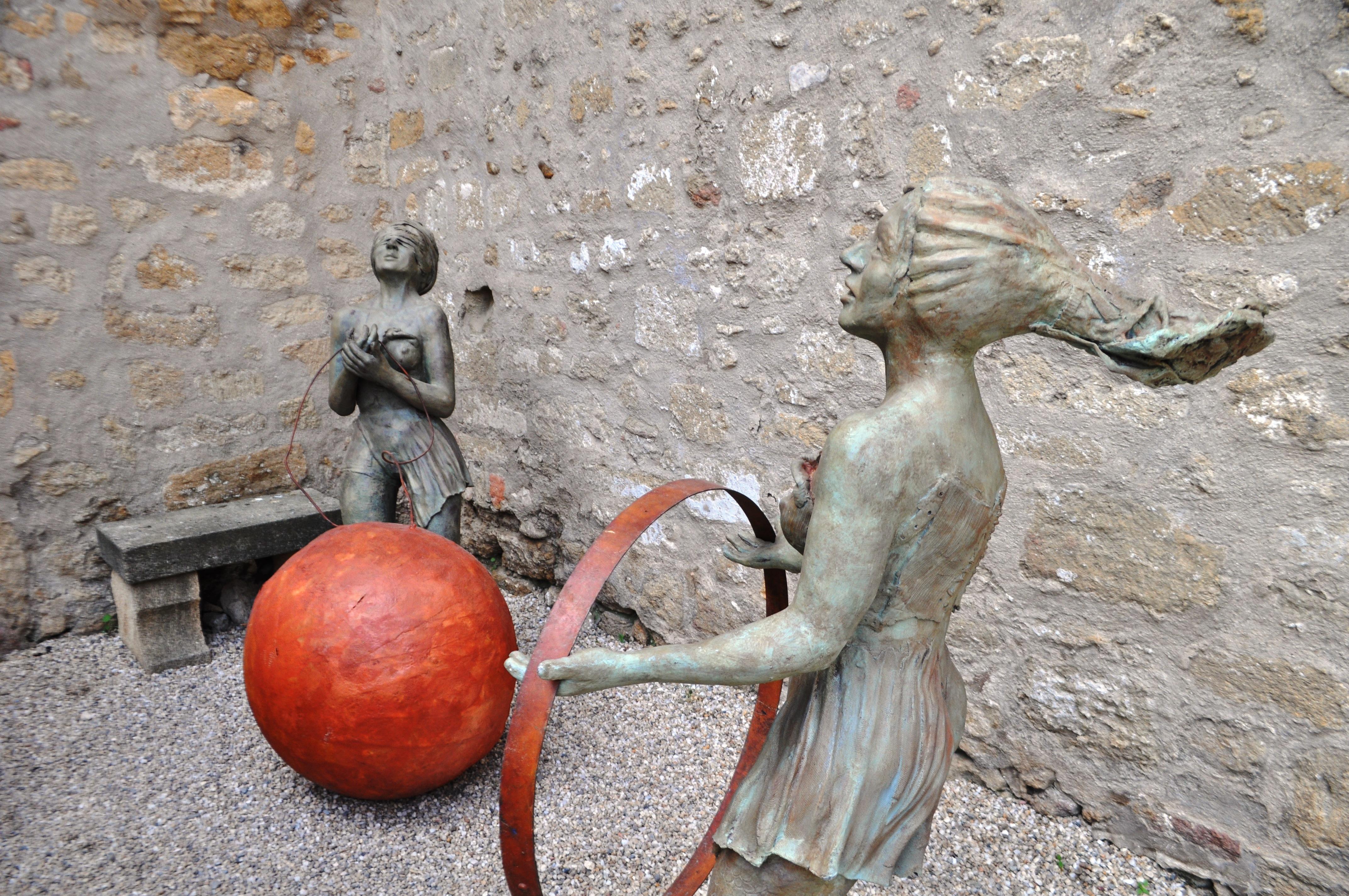 Whimsical Sculpture at Chateau de l'Emperi in Salon-de-Provence, France, Sept. 2013