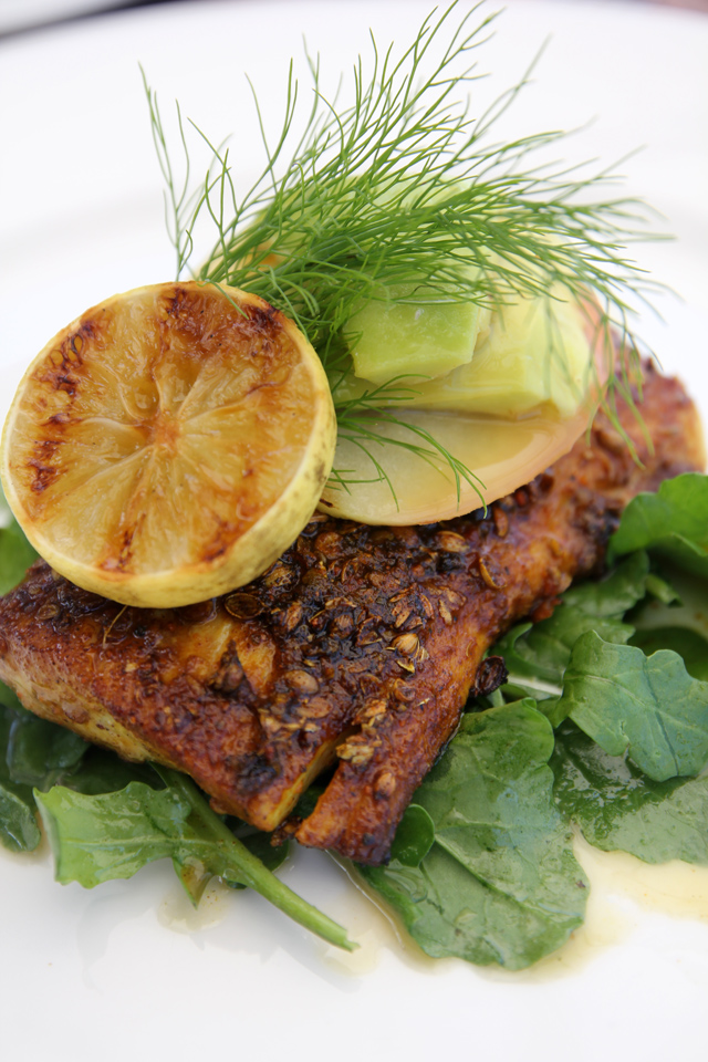 Blackened line fish