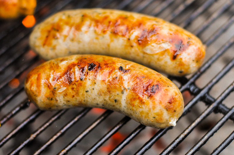 Chicken Sausage with Roasted Garlic and Feta