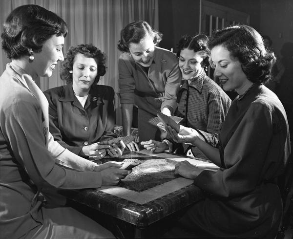Unidentified women playing bridge in Tallahassee, Florida