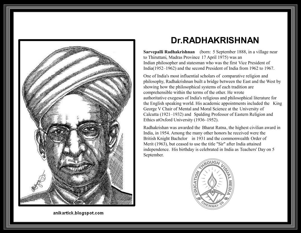Dr radhakrishnan freedom fighter of india indian first freedom indias president teacher