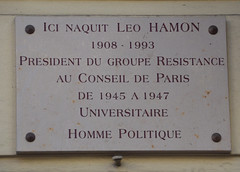 Photo of Leo Hamon grey plaque