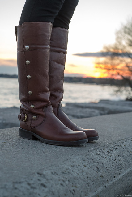 Steve Madden brown leather studded boots, Steve Madden riding boots