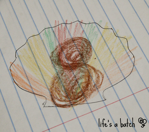 Turkey concept sketch (with crayons!)
