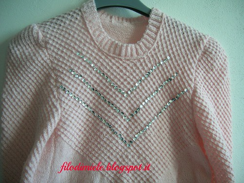 sequins pink sweater