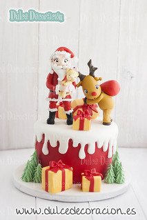 tarta decorada Dulce Navidad
