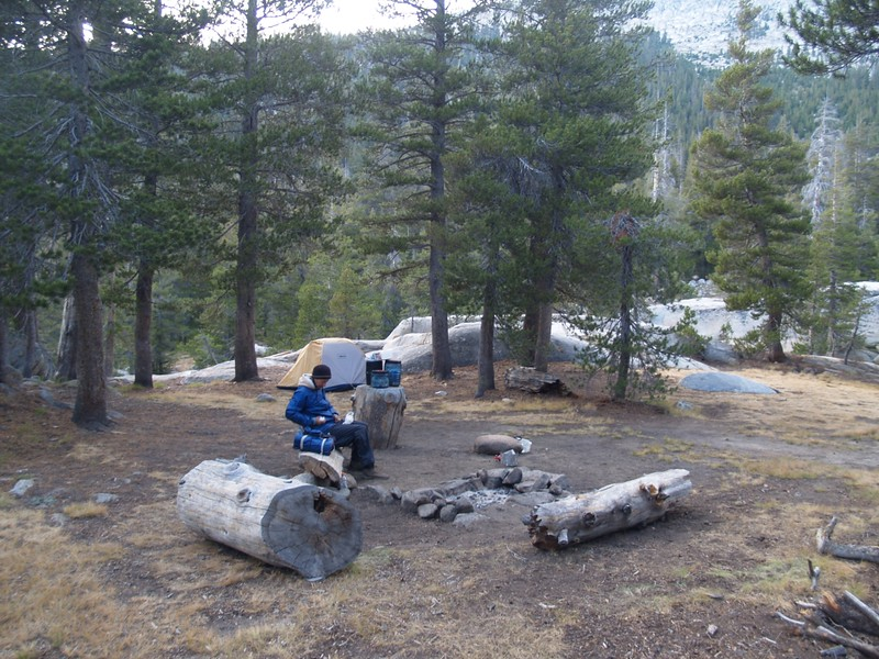 Our campsite in Virginia Canyon near the PCT