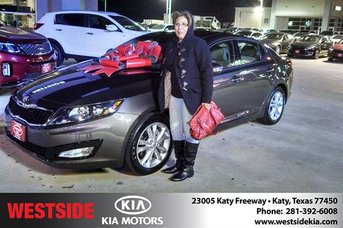 Thank you to Marta Macias on your new 2013 #Kia #Optima from Gil Guzman and everyone at Westside Kia! #NewCarSmell by Westside KIA