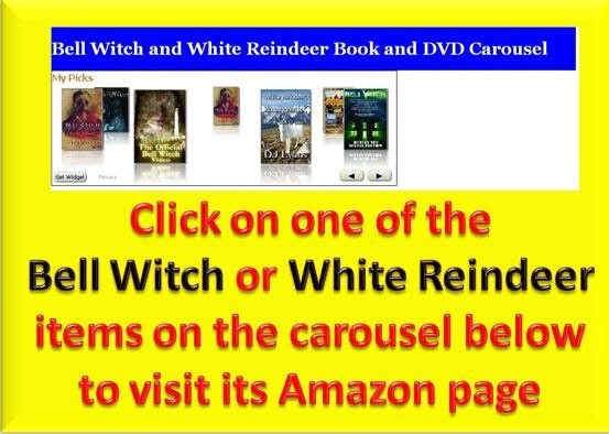 Bell Witch and White Reindeer Amazon carousel