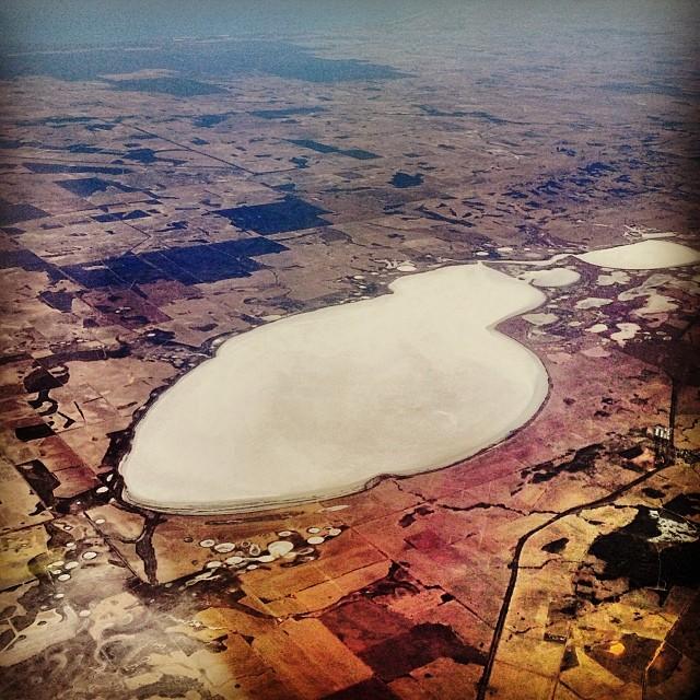 Amazing palette - salt lake somewhere north of Perth