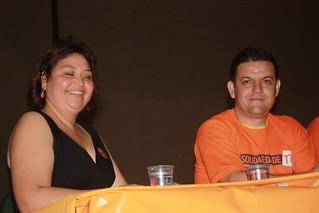 Os diretores Cristina Maria e Adriano Lateri