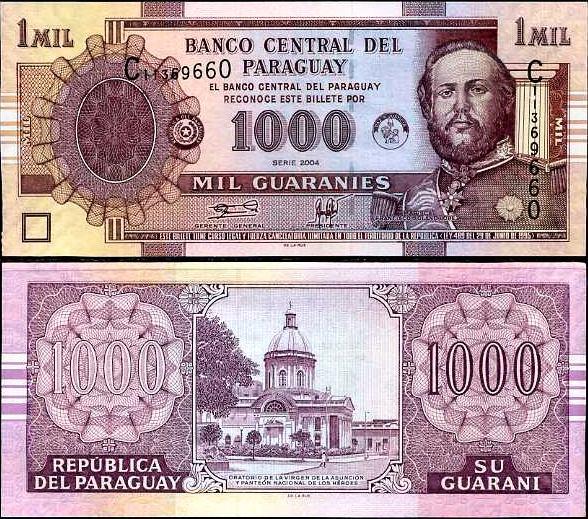 1000 Guaranies Paraguaj 2004, Pick 222a