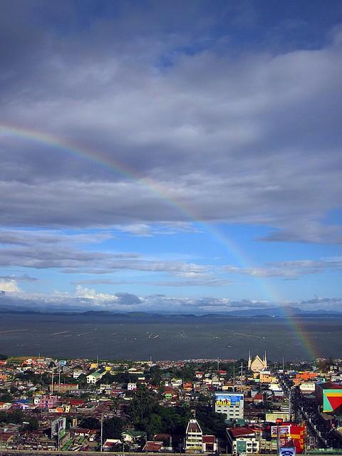 Portion of Alabang, Laguna Lake, and Talim Island, Binangonan, Rizal.  Photographed by Bernard Eirrol Tugade