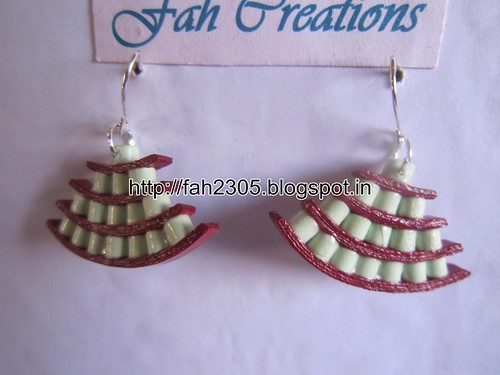 Handmade Jewelry - Paper Quiilling Egyptian Earrings (Free Form Quilling) (5) by fah2305