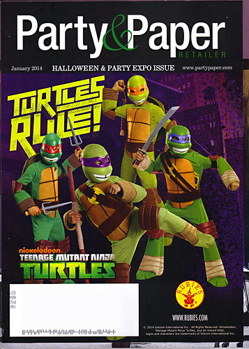 "Party & Paper Retailer,v.XXIX NO.1 // ""TURTLES RULE!"" ..alternate cover (( January 2014 ))"
