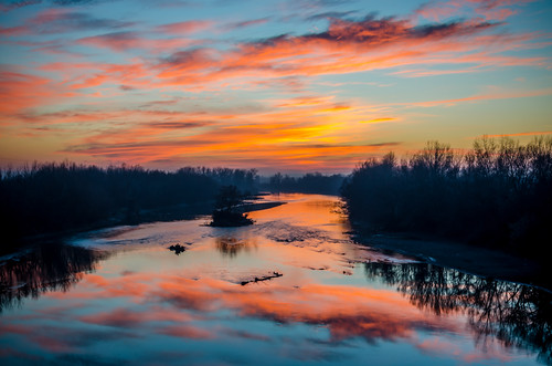 sunset reflection water clouds reflections river landscape nikon le romania d5100