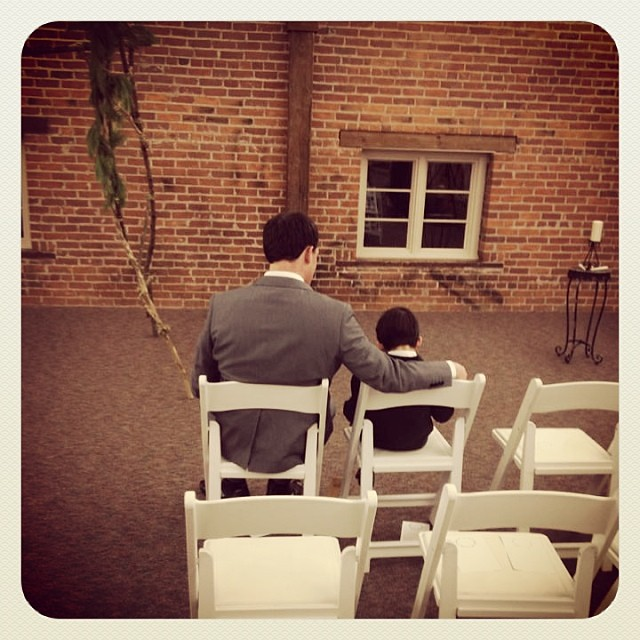 #latergram - Ryan and Niko after the ceremony #ryanandceleste (captured by Leah)