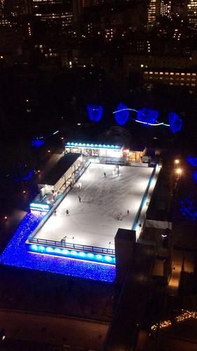 東京ミッドタウンのスケートとイルミネーション 2014/1/30