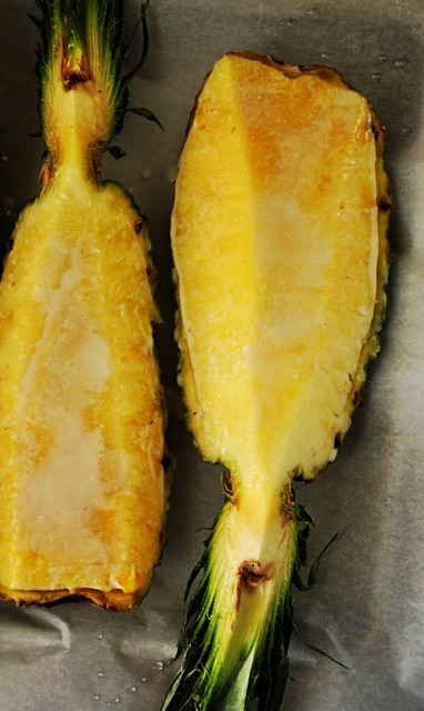 Rum Roasted Pineapple for Two