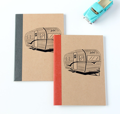 Retro Trailer Pocket Notebook
