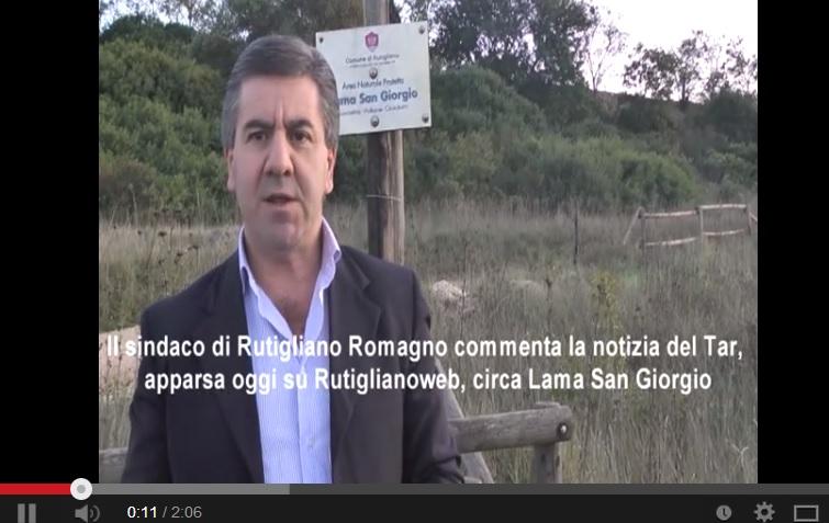 Il sindaco Romagno in un video dell'ottobre 2011 su RutiglianoWeb