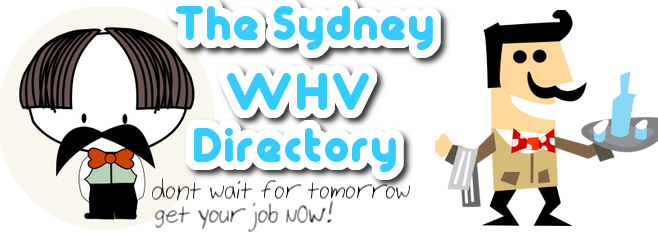 The best Sydney WHV Directory guide for backpackers on a WHV