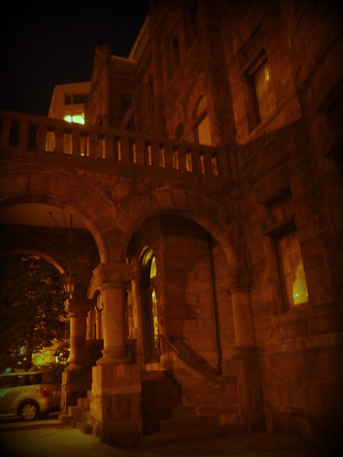 Heurich House, by night