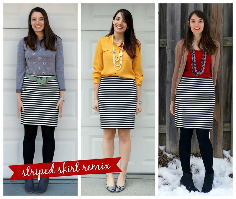 Target stripe skirt remix