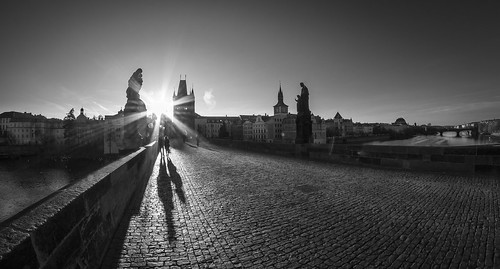Charles Bridge Prague by Zdenek Papes