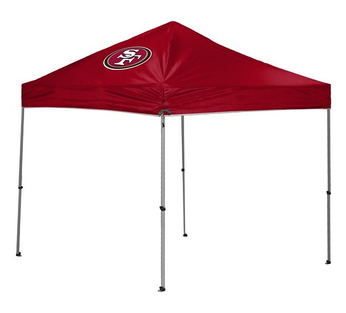 San Francisco 49ers TailGate Straight Leg Canopy, 9' x 9'