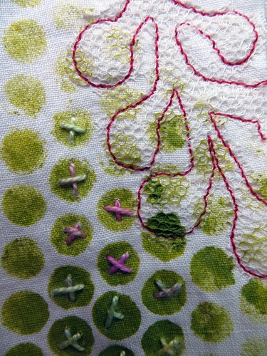 Poke Salad Annie quilt in progress