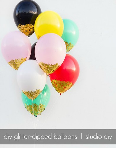 Confetti Dipped Balloons by homestilo