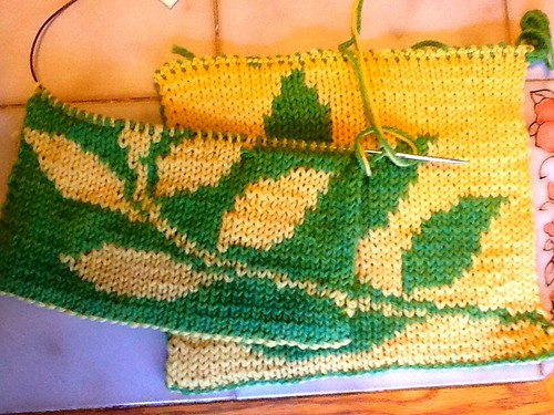 Double knitting potholder