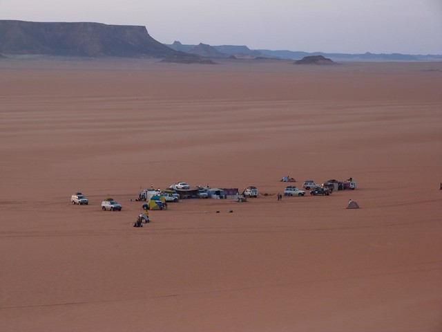 Campamento de la Expedición Kamal en Egipto