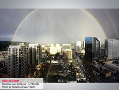 Bellevue rainbow - photo by natasha @saucytashy | Bellevue.com