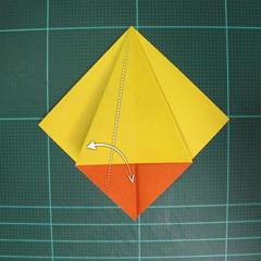 วิธีพับกระดาษเป็นรูปนกยูง (Origami Peacock - ピーコックの折り紙) 008