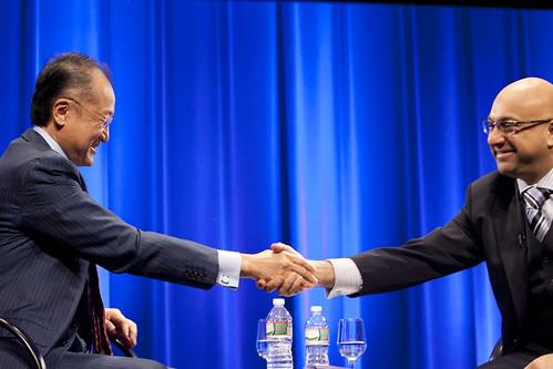 World Bank Group President Jim Yong Kim has a conversation with Al Jazeera's Ali Velshi