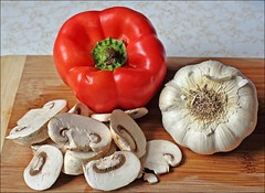 Garlic, Pepper & Mushrooms