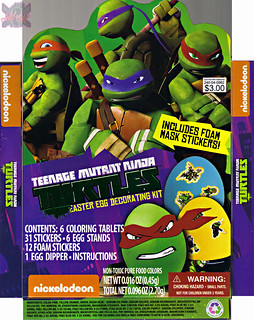 "Dudley's Easter :: Nickelodeon ""TEENAGE MUTANT NINJA TURTLES"" EASTER EGG DECORATING KIT // .. box i (( 2014 ))"