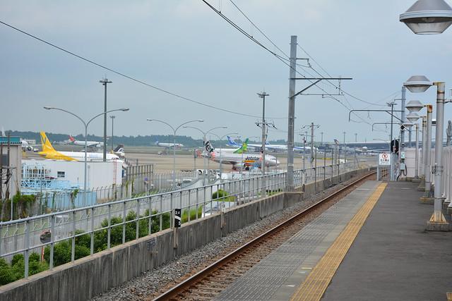 芝山千代田駅と成田空港